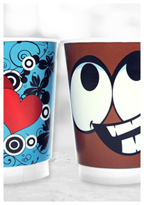 Custom Printed Cups at Down2Earth Materials